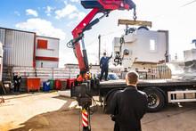 Crane Truck Lifting Heavy CNC ...