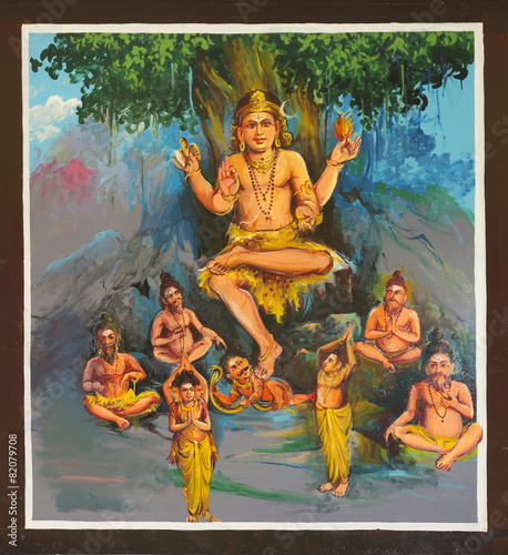 Canvas Prints Imagination Lord Shiva avatar at the Mahalingeswarar Temple, Dhakshinamoorth