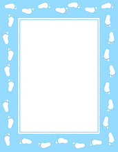Baby Footprint Frame Blue