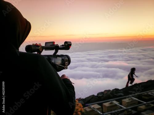Photo  Cameraman shooting