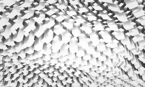 Diigital background with chaotic square pattern © evannovostro