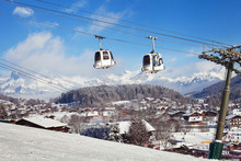 Ski Resort In Alps, Megeve Village, France