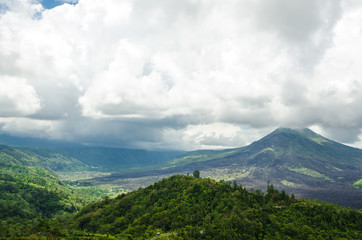Volcano Mount view from Kintamani, Bali, Indonesia