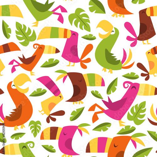wzor-z-tropikalnymi-ptakami-dla-dzieci