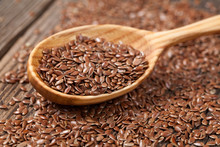 Heap Of Flax Seeds In Vintage ...