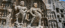 Carved Buddha Images At Longmen Caves, Dragon Gate Grottoes