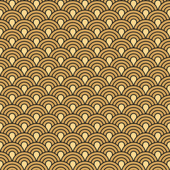 Fototapeta Art Deco seamless vintage wallpaper vector pattern