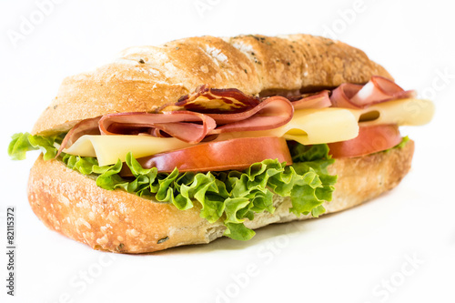 Spoed Foto op Canvas Snack Close up to sandwich