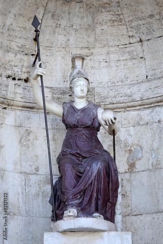 Fotomural Statue Dea Roma in Rome, Italy