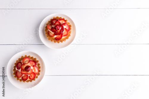 Cuadros en Lienzo truskawkowe ciastka