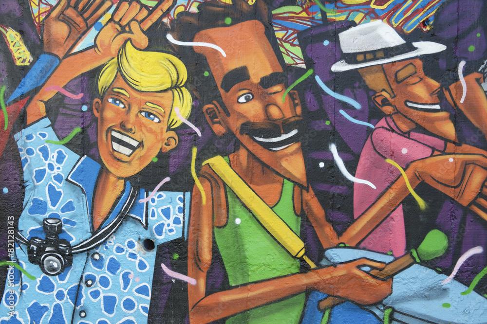 Lapa Rio de Janeiro Brésil Graffiti Poster