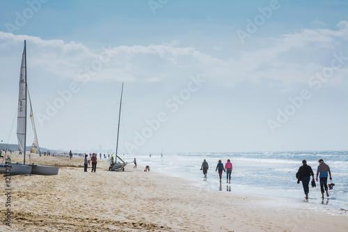 Keuken foto achterwand Noordzee Strand an der Nordsee De Haan Belgien