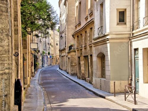 Quaint street in the Latin Quarter of Paris, France © Jenifoto