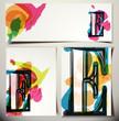 Artistic Greeting Card Letter E