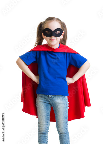 Fotografering  Child pretending to be a superhero