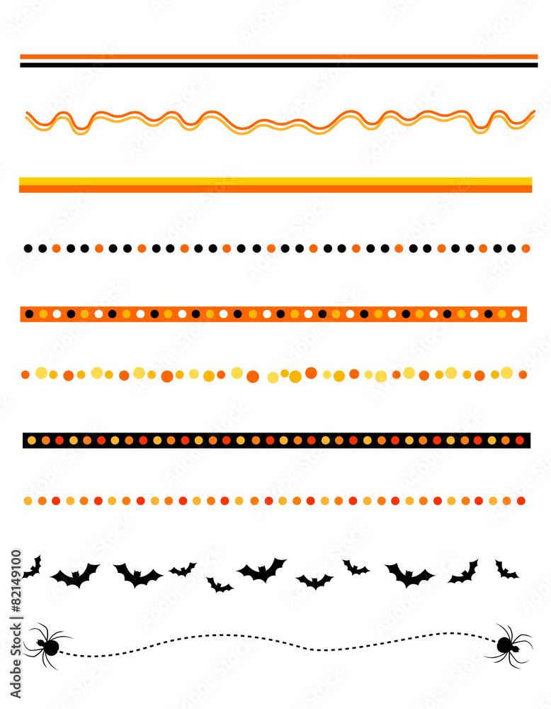 Halloween divider / frame Foto, Poster, Wandbilder bei EuroPosters