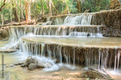 Wall Murals Waterfalls Waterfall in deep tropical Forest in summer , Huay Mae Kamin W