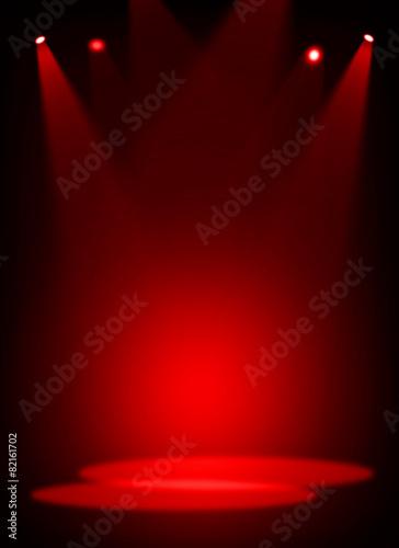 Carta da parati  Red stage light background