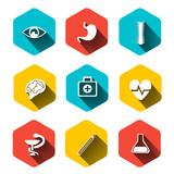 Paper clipped sticker: medicine