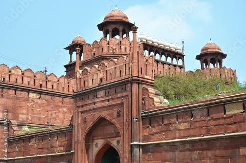 Stickers pour porte Delhi Red Fort. Delhi, India