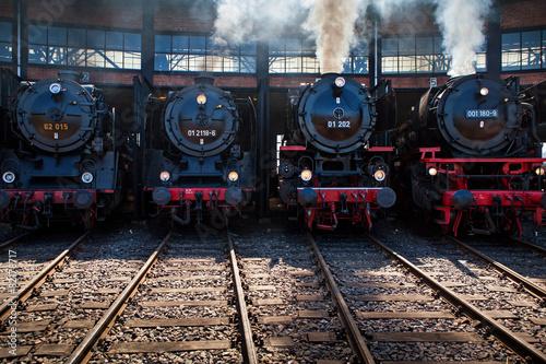 Fotografie, Obraz  Eisenbahntreffen