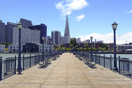 Keuken foto achterwand San Francisco Pier and San Francisco city Skyline, California