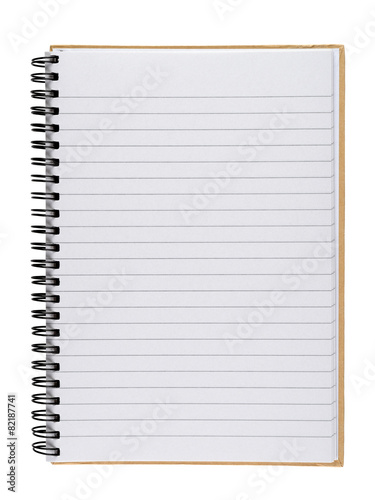 Fotografie, Tablou  Notebook isolated on white background