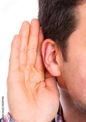 Foto  Ear listening