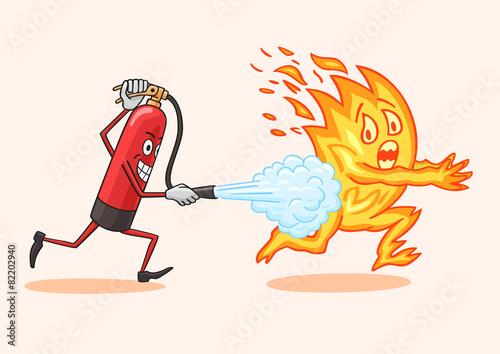 Photo Fire extinguisher.