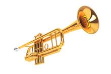 Polished Brass Trumpet