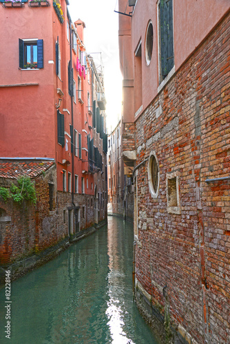 Fototapety, obrazy: Venice, Italy, Grand Canal and historic tenements
