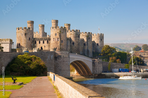 obraz PCV Conwy Castle in Wales, United Kingdom, series of Walesh castles