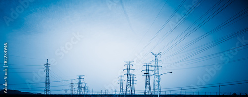 Photo  High voltage towers