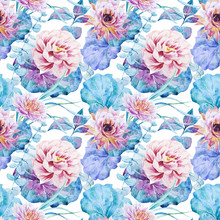 Nice Floral Watercolor Seamles...