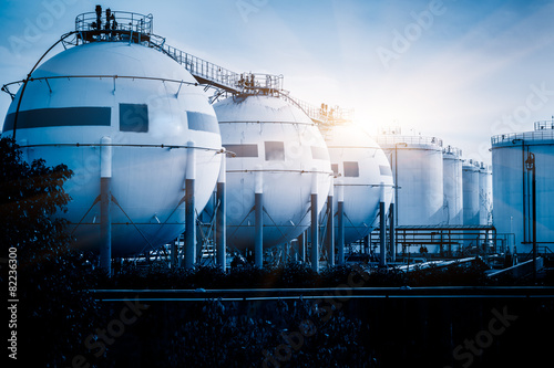 Photo  gas tanks for petrochemical plant