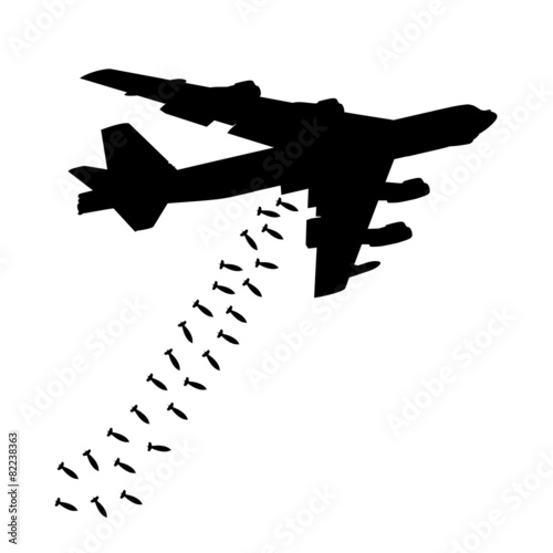 Heavy bomber dropped the bombs Fototapeta