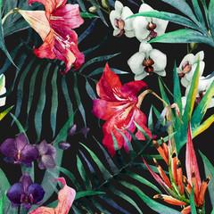 Panel Szklany Podświetlane Egzotyczne Tropical pattern