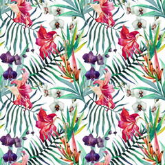 Panel Szklany Tropical pattern