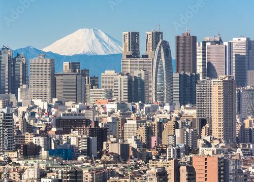Obrazy Tokio  pejzaz-tokio-i-gora-fuji-w-japonii