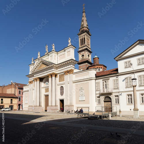 Alessandria cathedral, piedmont, italy Canvas Print