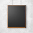 Wooden frame on the white background. 3d render