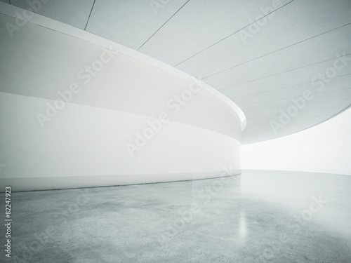 Fototapety, obrazy: White open space contemporary interior. 3d render