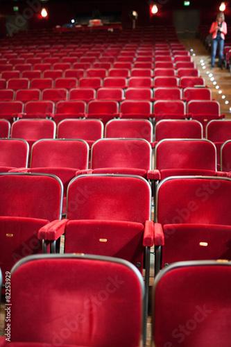 Fotografering  Sedili rossi al Teatro