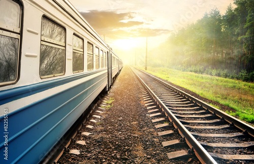 Foto  Moving train