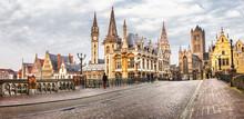 Panoramic Image Of Medieval Ghent, Belgium