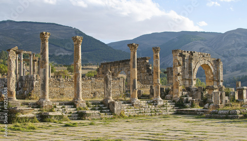 Photo Stands Algeria Roman ruins