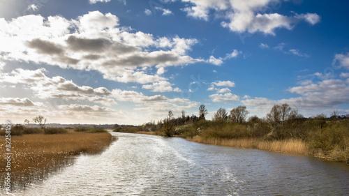 Fotografía Landscape with river near Randers in Jutland Denmark