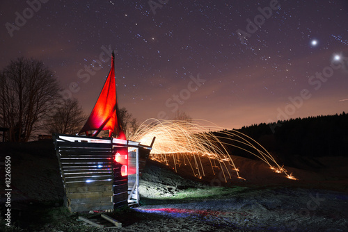 Keuken foto achterwand Fantasie Landschap Light sailing