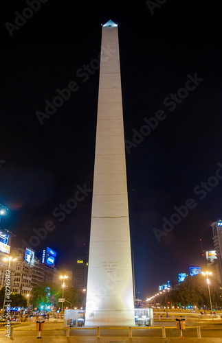 The Obelisk - Buenos Aires, Argentina at night
