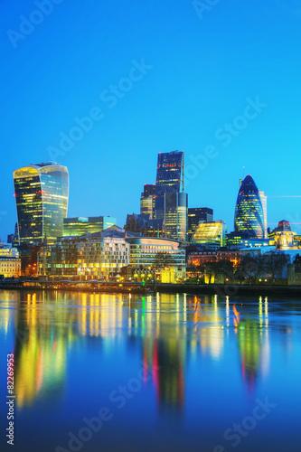 Zdjęcie XXL Dzielnica finansowa miasta Londyn